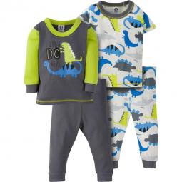 c1386ca9f0c6 4-Piece Boys Brown Bear Snug Fit PJs – Gerber Childrenswear