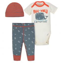 a3d904a9e31e 3-Piece Baby Boy Super Happy Bodysuits and Pant Set – Gerber ...