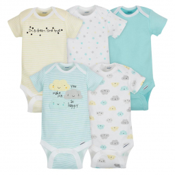 c986d3f66 5-Pack Girls Elephant Onesies reg  Brand Short Sleeve Bodysuits ...