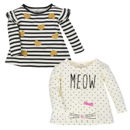 c16909a22 1-Piece Girls Smart Girls Long Sleeve Top – Gerber Childrenswear
