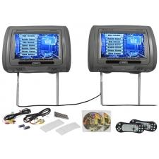 """rockville rtsvd961-gr 9"""" gray touchscreen dual dvd/hdmi car headrest  monitors"""