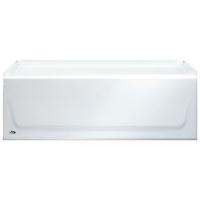 011 3303 00 Bootz Kona White 4 1/2 Ft Left Hand Alcove Bathtub Conventional  Installation