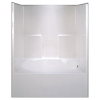 G6042TSHSL Aquarius White 5 Ft Left Hand Acrylic Tub/Shower Combo